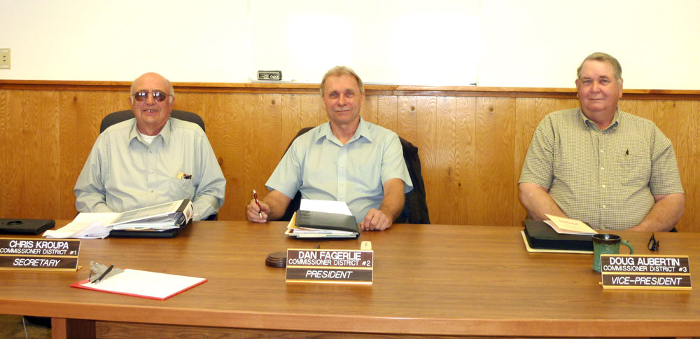Pictured from left to right: Commissioners Chris Kroupa, Dan Fagerlie and Doug Aubertin